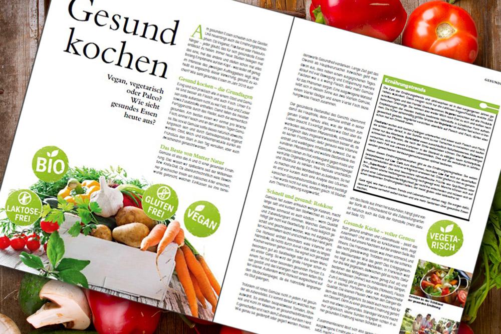 Kundenzeitschrift mit Koch-Thema